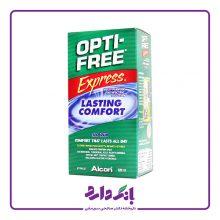 محلول شستشوی لنز آلکن مدل EXPRESS OPTI – FREE حجم ۱۲۰ میلی لیتر