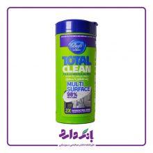 دستمال مرطوب پاک کننده و ضد عفونی کننده سطوح دافی مدل TOTAL CLEAN multi surface تعداد ۵۰ برگ
