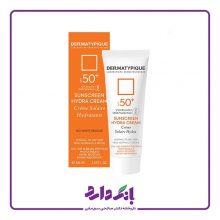 ضد آفتاب بی رنگ هیدرا مناسب پوست خشک +SPF50 درماتیپیک حجم ۵۰ میل