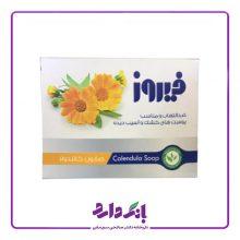 صابون کالاندولا مناسب پوست های آسیب دیده و ملتهب فیروز ۱۲۰ گرم