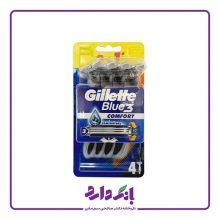 خودتراش ژیلت مدل Blue 3 Comfort بسته ۴ عددی