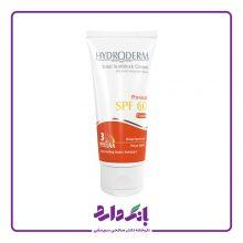 کرم ضد آفتاب SPF60 هیدرودرم مناسب پوست های خشک و حساس رنگ بژ روشن حجم ۵۰ میلی لیتر