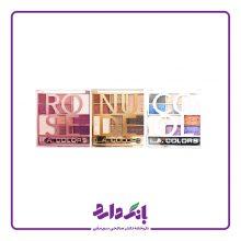 پالت سایه چشم ال ای کالرز سری Color Block در ۳ مدل Nude, Rose, Cool  شامل ۱۰ رنگ
