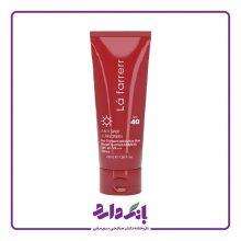 کرم ضد آفتاب و ضد لک رنگی SPF40 لافارر مخصوص پوست های چرب و مستعد آکنه رنگ بژ نرمال حجم ۴۰ میلی لیتر