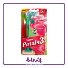 خودتراش لیزر مدل Petals 3 مخصوص بانوان بسته ۴ عددی