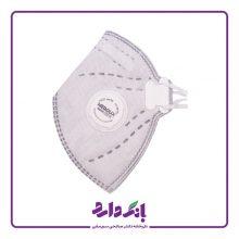 ماسک فیلتر دار مداکس دارای سوپاپ و لایه کربن در سه رنگ ۱ عددی