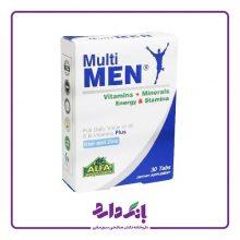 قرص مولتی من آلفا ویتامینز مخصوص آقایان ۳۰ عددی