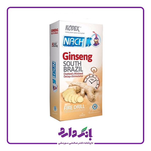 خرید کاندوم تاخیری ناچ جینسینگ کدکس مدل Ginseng بسته 12 عددی | قیمت کاندوم تاخیری جینسینگ کدکس مدل Ginseng بسته 12 عددی