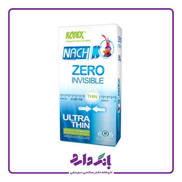 خرید کاندوم ناچ کدکس مدل Zero Invisible بسته 12 عددی | قیمت کاندوم ناچ کدکس مدل Zero Invisible بسته 12 عددی