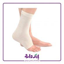 قوزک بند طبی الاستیک پاک سمن مدل Ankle Support Elastic کد ۰۳۰ رنگ سفید فری سایز بسته تک عددی