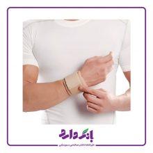 مچ بند نئوپرنی با استرپ پاک سمن مدل Neoprene Wrist Support کد ۰۹۰ رنگ کرم فری سایز بسته تک عددی