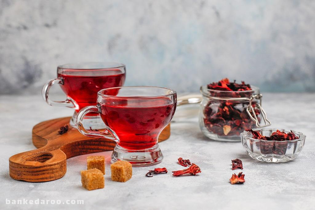 دمنوش لاغری چای ترش یا هیبیسکوس