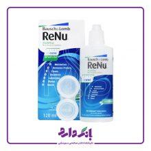 محلول شستشوی لنز رنیو بوش اند لوب مناسب لنز های طبی و رنگی حجم ۱۲۰ میلی لیتر