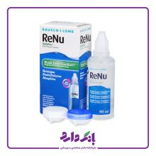 محلول شستشوی لنز رنیو بوش اند لوب مناسب لنز های طبی و رنگی حجم ۶۰ میلی لیتر