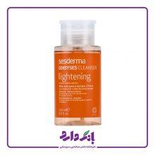 محلول پاک کننده آرایش سسدرما مدل Sensyses Lightening حجم ۲۰۰ میلی لیتر