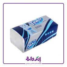 دستمال کاغذی ۲۵۰ برگ تنو مدل Soft بسته ۸ عددی