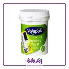 قرص مخمر والوپاک تقویت پوست و مو مدل Brewer Yeast 300 mg بسته بندی ۱۲۰ عددی